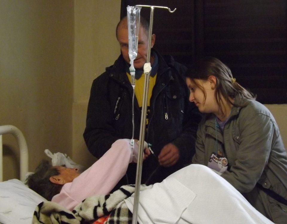 Jovens Missionários em visita aos doentes